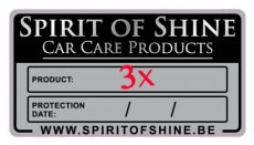 Etiquettes de maintenance (3x) - Spirit of Shine